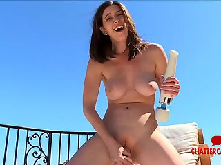 Big Tits Brunette Does Outdoor Big Toy Play