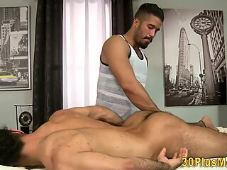 Muscly hairy hunk rides