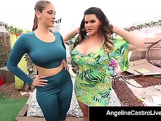 Cuban plumper Angelina Castro porks Ms. Raquel With strap-on!