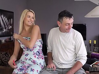 DADDY4K. Mature guy nicely penetrates young blonde with perky tits