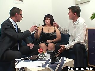They share huge titted mature mom