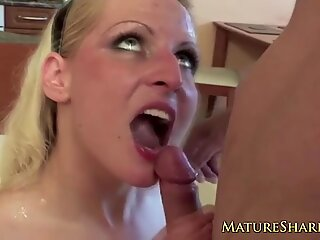 Ass Fucked Blonde Granny Whore