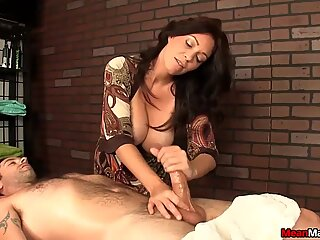The hottest HJ from a cougar with huge titsReport this video