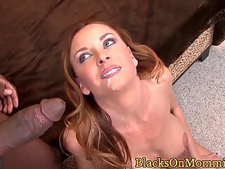 Stunning MILF spitroasted by two black cocks