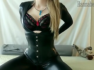 latex corset, Double-Ended Dildo & Anal fucktoys Get Me Off!