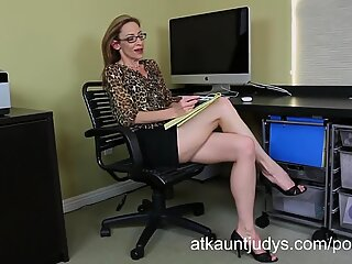 bony milf Betty Blaze gets all mischievous at the office