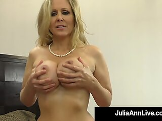 Hot Big Boobed Cougar Julia Ann Takes A Warm Load Of Cum In Her Sweet Mouth