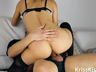 Hot Blonde Blowjob and Cowgirl on Big Dick BF POV
