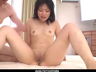 Inexperienced Yumi Tanaka tries several dicks in the same time - More at 69avs.com