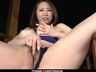 Ruka Ichinose fine blowjob and pussy action in POV
