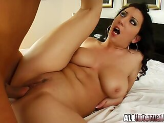 Two cocks and creampie are no challenge for this hottie