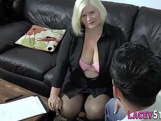 Busty Granny Cant Resist a Good Hard Cock