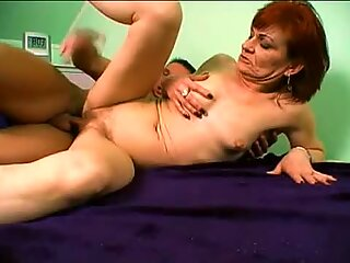 Red head Steph getting her flaming pussy nailed by a big dick
