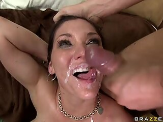 Big titted whore Claire Dames delights in a huge juicy cock and cumshot