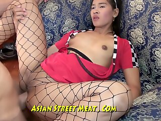 Seafood Sweety sodomized In Silver chinese leggings