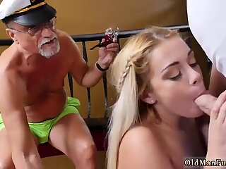 Three some squirt and old granny in park Age ain t nothing but a number!