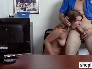 Big ass thief fucked so hard by a perverted policeman