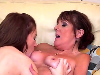 Mom and daughter taboo lesbian sex