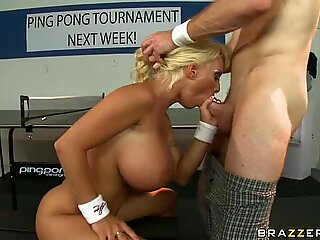 Holly Halston teases a throbbing shaft in her hot nasty mouth