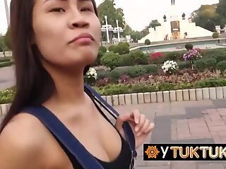 Tattooed Thai whore gets her sweet cunt impaled so nice