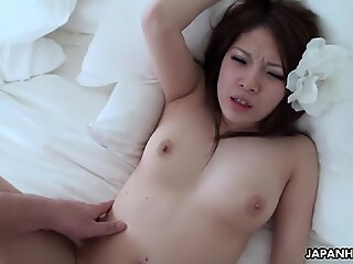 Very cute chinese brunette gets her sugary-sweet raw pussy plowed