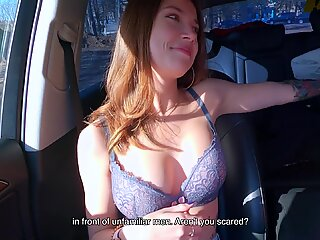 Cute Girl-hitchhiker Agreed to Give a Blowjob for Money - Public Agent