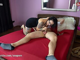 MyDirtyHobby - QueenParis takes the virginity of a younger guy